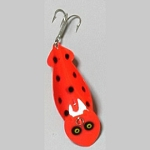 F33-4 Fluorescent - Red with Black Dots