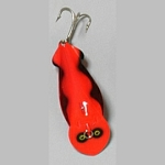 F43-4 Fluorescent - Red with Black Scallop