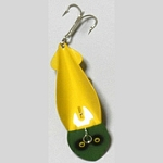 22-5 Solid Head - Yellow with Green Head